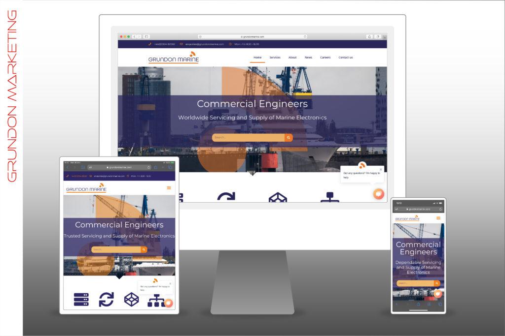 Grundon Marine Ltd - Website On Devices