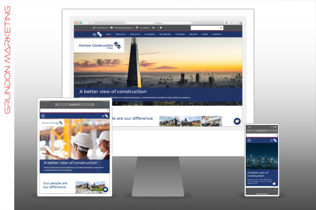 Horizon Construction Group - Website On Devices